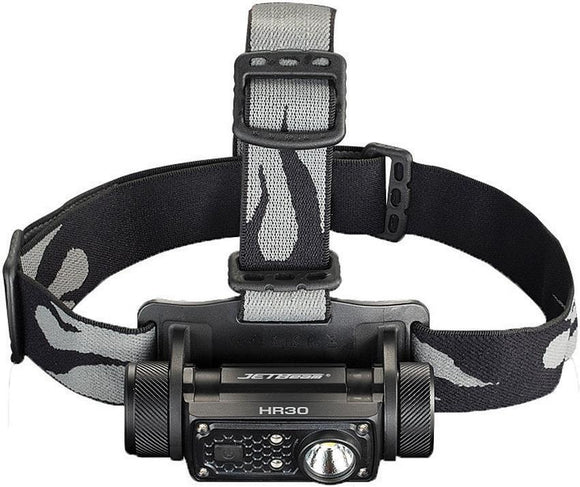 JETBeam HR30 Headlamp Flashlight Black Body Adjustable Head Strap