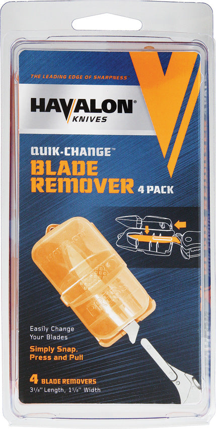 Havalon 4 Pack Orange Plastic Piranta-Style Knife Blade Removers BRC4P