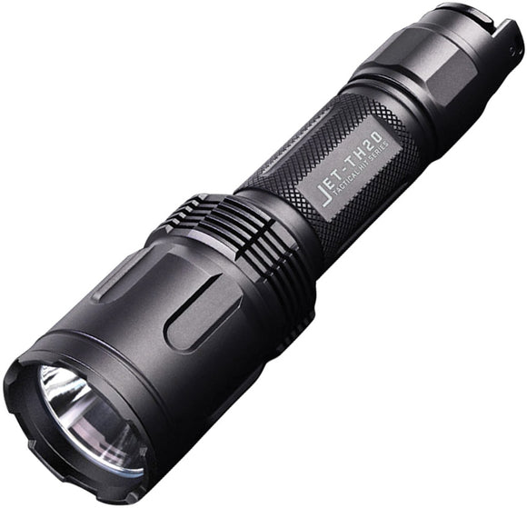 JETBeam TH20 Tactical CREE XHP70.2 LED Black Aluminum Flashlight w/ Sheath TH20