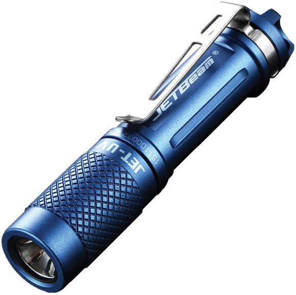 JETBeam JET-UV CREE UV Light Blue Aluminum Water Resistant Flashlight JETUV