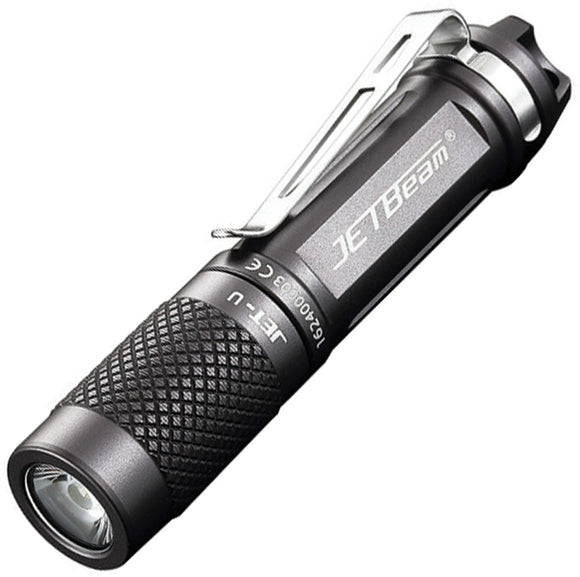 JETBeam JET-U CREE XP-G LED Gray & Black Body 45 meter Beam Flashlight JETU