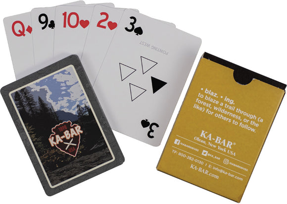 Ka-Bar Playing Cards Game Soldier WWII Replica Afghanistan Conflict Novelty Deck 9914