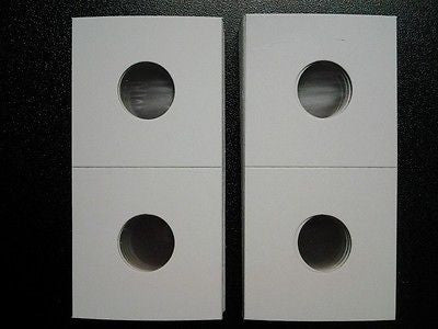 500 New Dime Size 2x2 Cardboard Coin Holders Flips