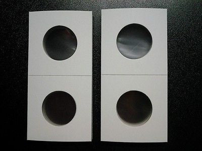 New 2x2 Small Dollar Size Cardboard Coin Holders Flips Qty of 250 Protectors