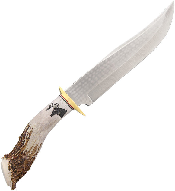 Ken Richardson Knives 8in 1085HC Steel Fixed Blade Bowie Knife 1410
