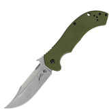Kershaw Emerson CQC-10K Wave OD Green Plain Edge Folding Knife - 6030