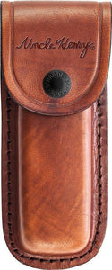 "SCHRADE Uncle Henry Brown Leather KNIFE Sheath Fits 3-4"" Folding Knives"