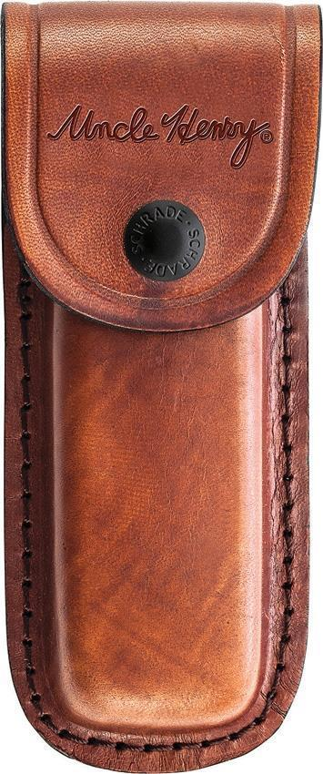 SCHRADE Uncle Henry Brown Leather KNIFE Sheath Fits 3-4