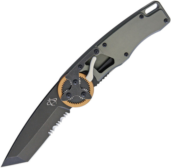 Mantis Gearhead Linerlock Copper Black Serrated Tanto Folding Knife 2021TCS