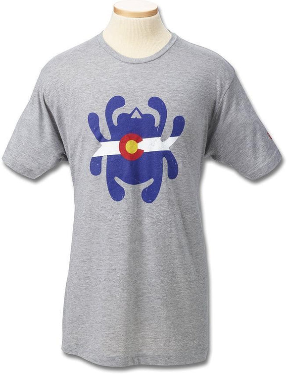 Spyderco Colorado Flag Bug Mens Adult Size S M LG XL 2XL 3XL Grey Shirt T-Shirt