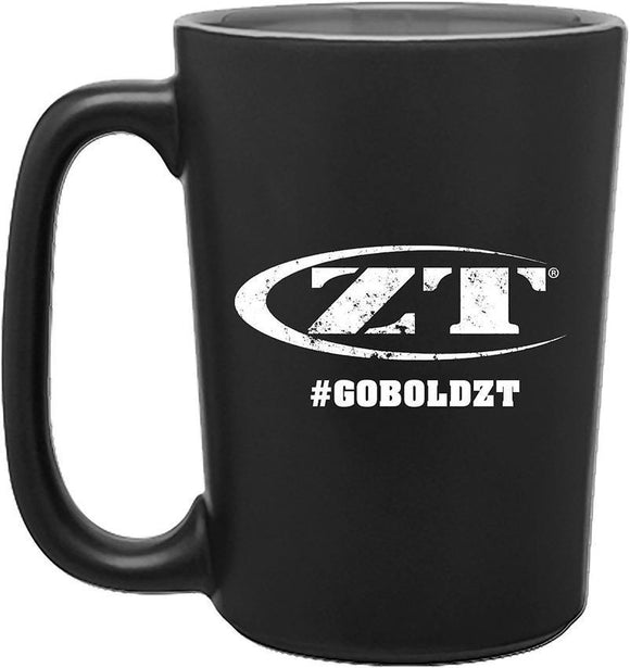 Zero Tolerance White Logo #GOBOLDZT Black Mug