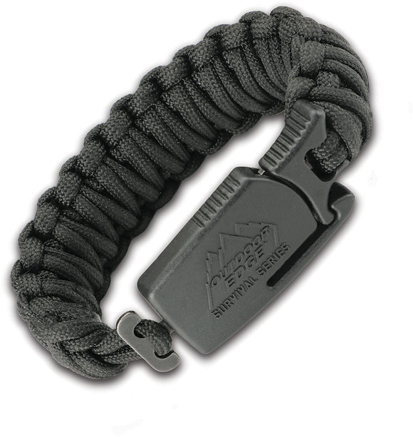 Outdoor Edge Paraclaw Black Medium Stainless Knife Paracord Survival Bracelet Tool PCK80C