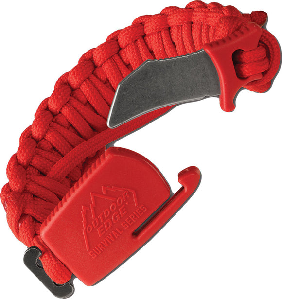 Outdoor Edge Paraclaw Trainer Red Medium Knife Paracord Bracelet Tool PCT80D
