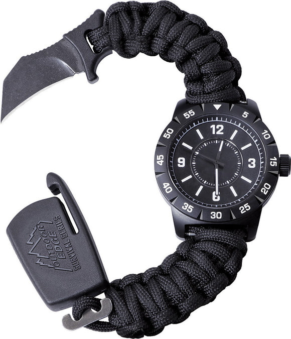 Outdoor Edge Paraclaw CQD Watch 30th Anniversary Stainless Knife Survival Paracord Bracelet Tool PW3080S