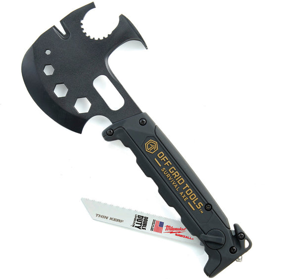 Off Grid Tools Black GRN Survival Multi-Tool Axe Milwaukee Sawzall TS600