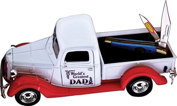 Frost Worlds Greatest Dad Truck Fathers Day Gift w/ Peanut Pocket Knife