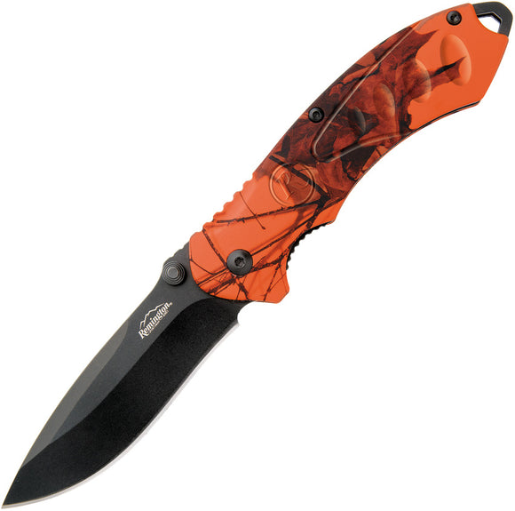 Remington Sportsman FAST A/O Linerlock Orange Camo Folding Pocket Knife 11619