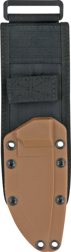 ESEE Jump Proof MOLLE Back Plate Coyote Brown & Black Knife Sheath System RC20SS