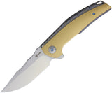 Reate Knives Jack Linerlock Flame Anodized Titanium M390 Flipper Folding Knife 044