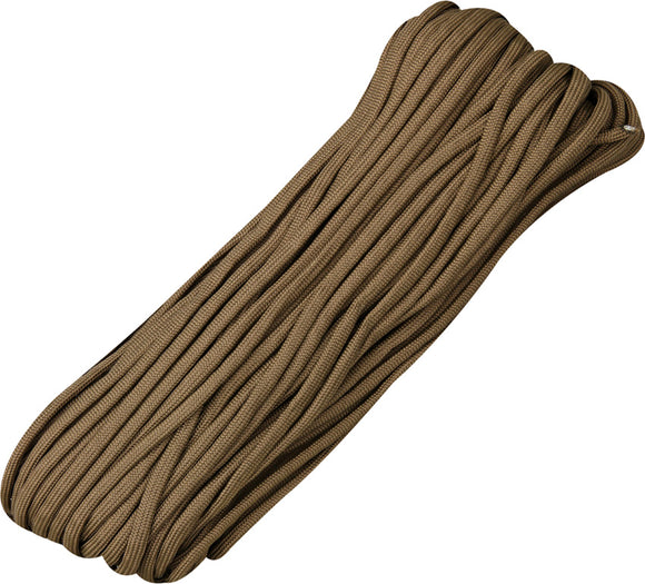 Marbles Parachute Cord Brown 100 ft 7 strand 550lbs 027h