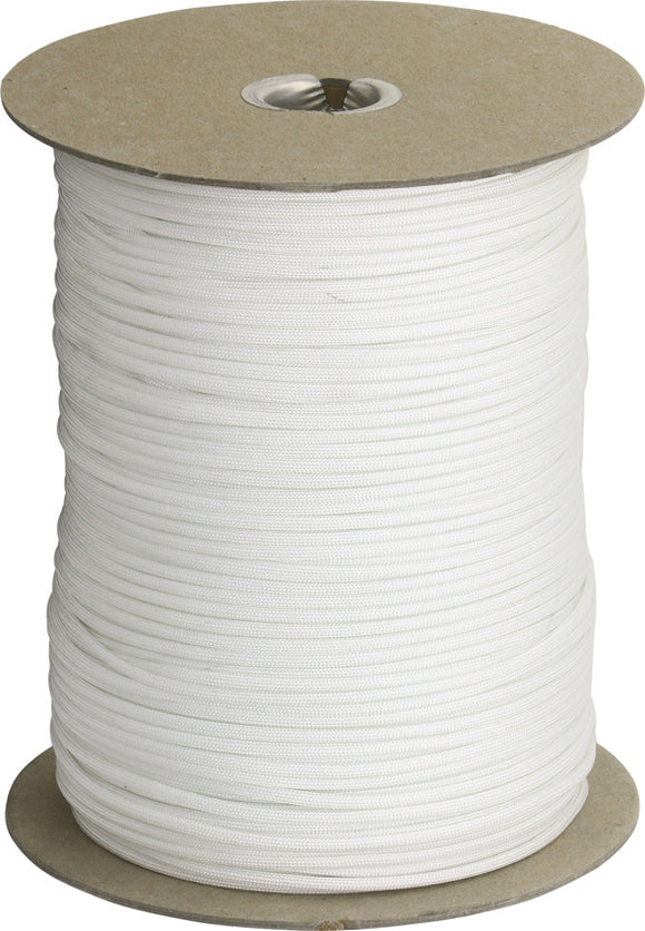 Marbles Parachute Cord White 1000 Ft 7 strand 550lbs 1010s