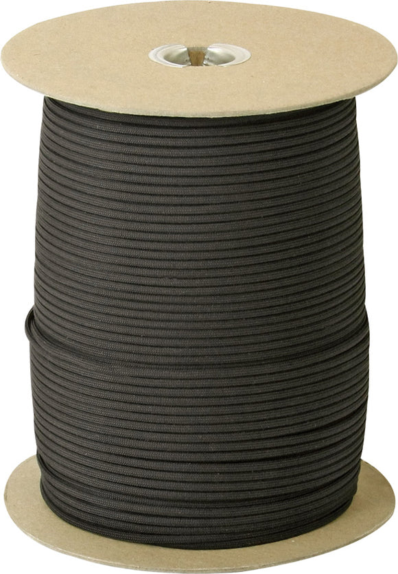 Marbles Parachute Cord Black 1000 ft 7 strand 550lbs 101s