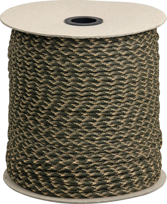 Marbles Parachute Cord Camo 1000 ft 7 strand 550lbs 1028s