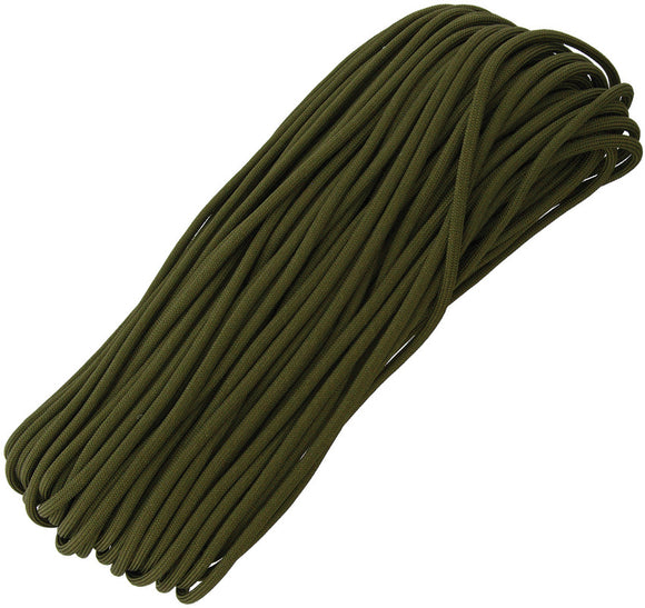 Marbles Military Spec Paracord OD 100 ft 7 strand 550lbs 1165h