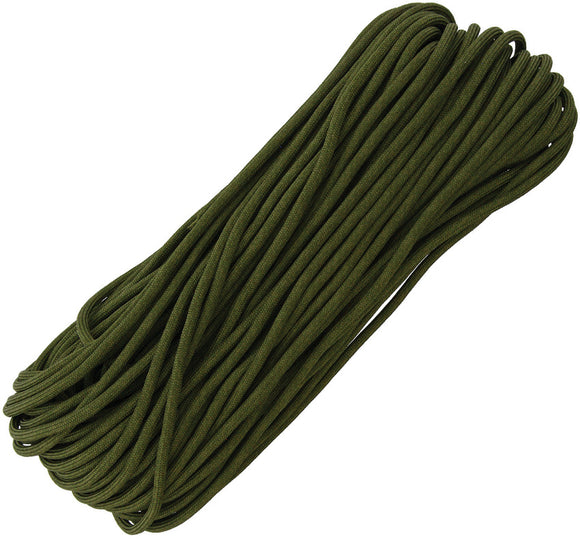 Marbles Military Spec Paracord Green 100 ft 7 strand 550lbs 1166h