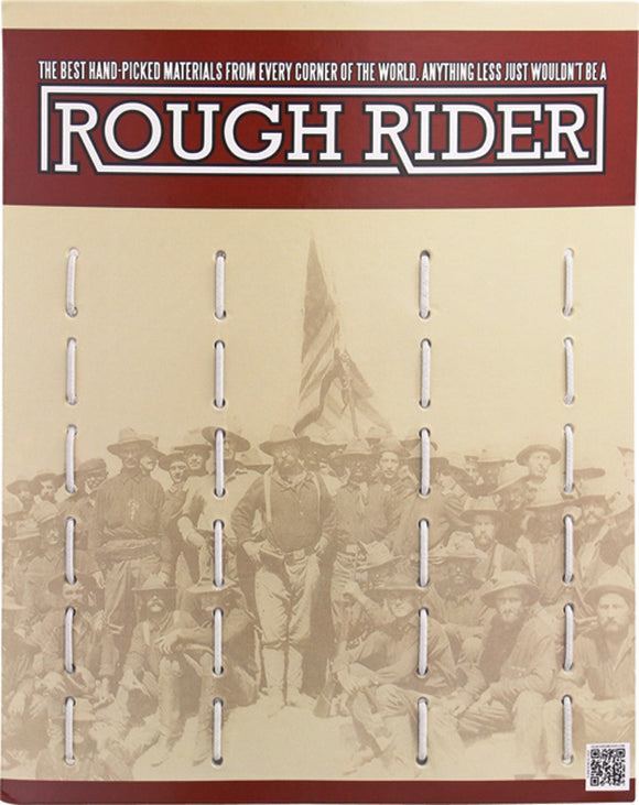 Rough Rider Empty Tent Card Cardboard 12 Pocket Knives Countertop Display 680
