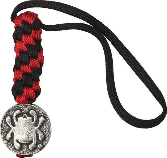 Spyderco Red/Black Flat Pewter Spider Bead Knife Handle Lanyard BEAD5LY