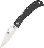 Spyderco Baby Jess Horn Stainless Folding Blade Gray G10 Handle Knife X08GGYP