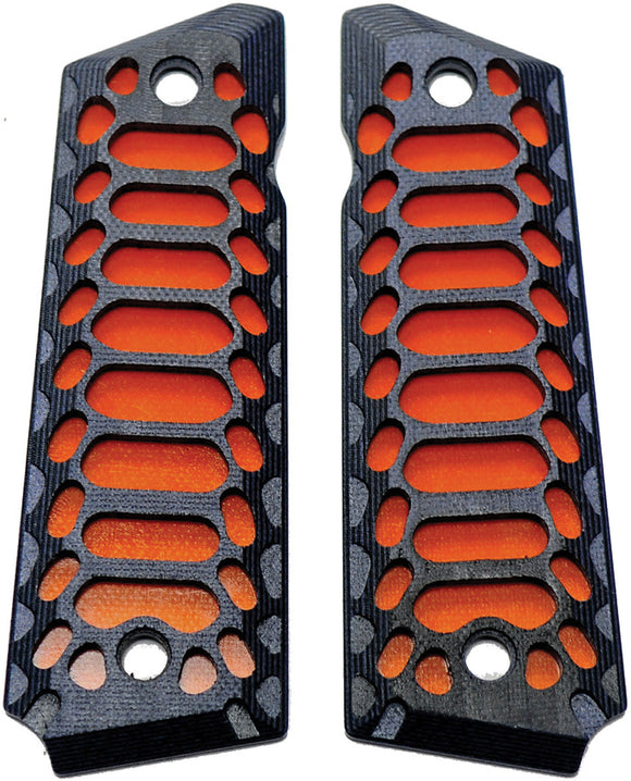 Savage Grips 1911 Grips Black/Orange 8001BK