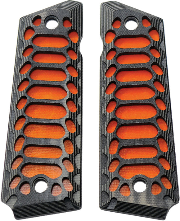 Savage Grips 1911 Grips Brown/Black/Orange 8001BR