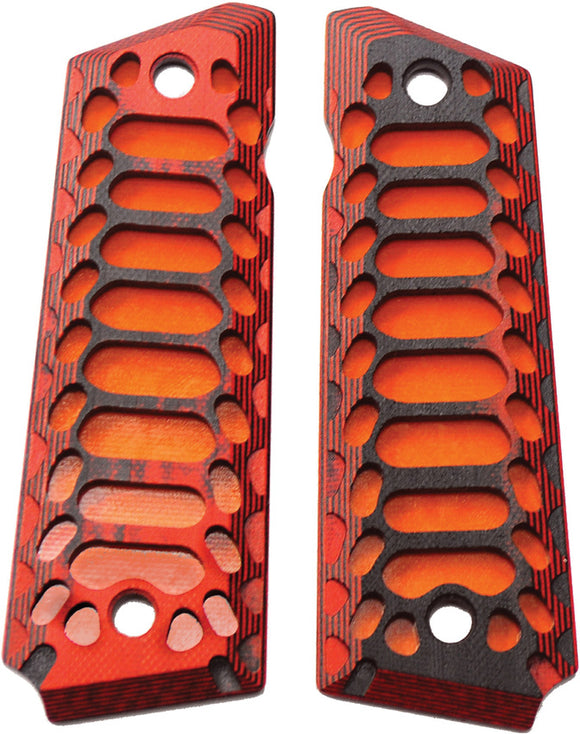 Savage Grips 1911 Grips Red/Black/Orange 8001RD
