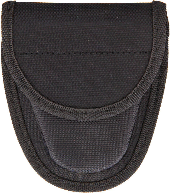 Carry All Handcuff Pouch Black Nylon W/ Belt Look Standard Size Cuffs 1152