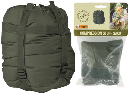 Snugpak Compression OD Green Large Used Sleeping Bags Clothing Stuff Sack 92072