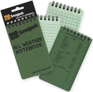 Snugpak Olive Green All Wet Weather Conditions Survival Large Notebook 97380
