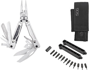 SOG Powerplay Stainless Folding Knife Pliers Multi-Tool w/ Hex Bit Kit PX1001NCP