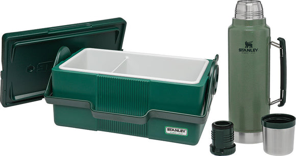 Stanley Heritage Cooler Lunch Box & Thermos Bottle Camping Travel Set 8258001