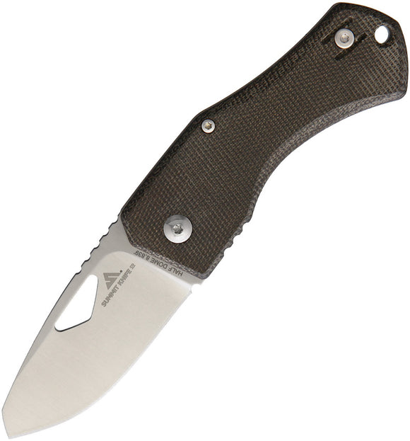 Summit Knife Company Half Dome Framelock M390 Green Micarta Folding Knife SUM01