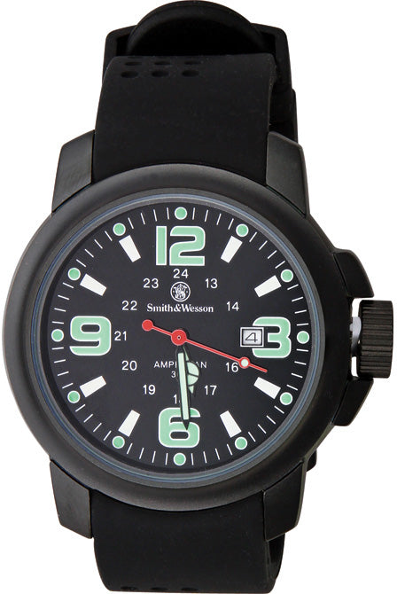 Smith & Wesson Black Mens Amphibian Commando Water Resistant Watch W1100
