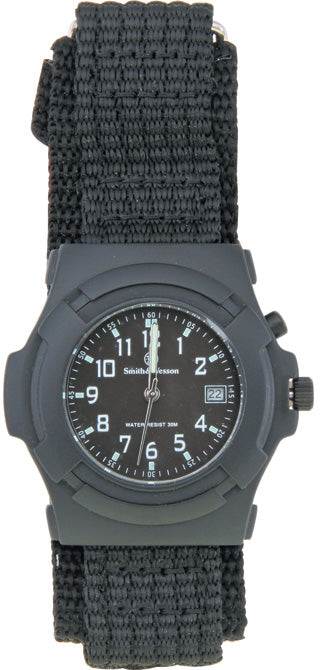 Smith & Wesson Black Mens Lawman Watch W11BG