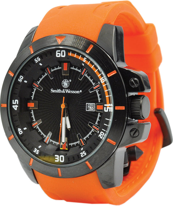 Smith & Wesson Orange Trooper Watch Stainless Case Back W397OR