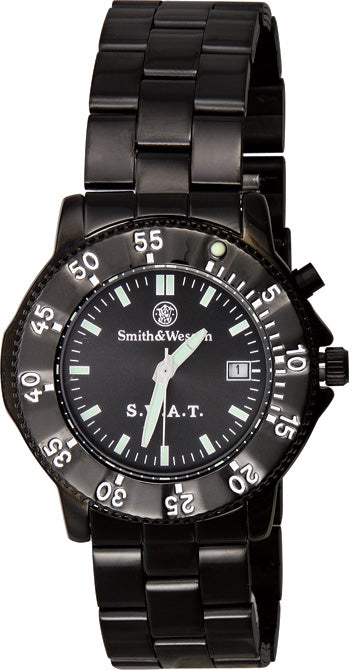 Smith & Wesson Black Mens SWAT Waterproof Watch W45M