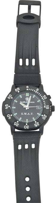 Smith & Wesson Black Mens SWAT Water Resistant Watch W45