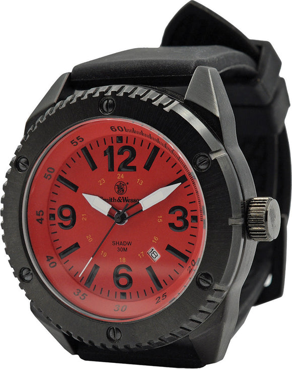 Smith & Wesson Red/Black Watch Stainless Back W693RD