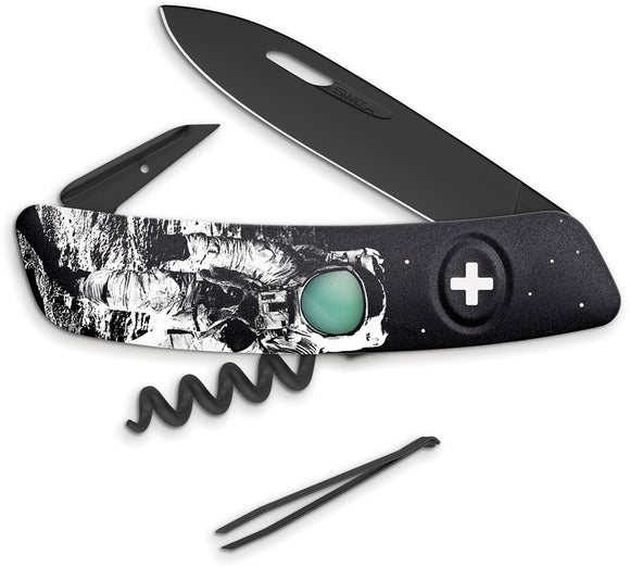 Swiza D01 Black Moonwalk Folding Multi-Tool Corkscrew Pocket Knife B013MW50