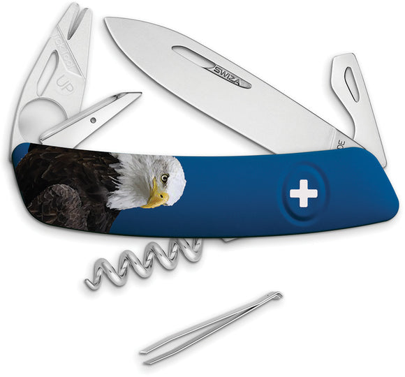 Swiza TT03 Blue Tick Mult-Tool Eagle Folding Corkscrew Pocket Knife B070W001