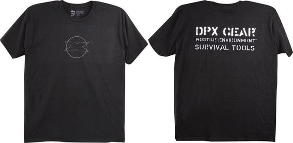 DPx Gear Circle Logo Silhouette Black T-Shirt Adult Size Large (L)